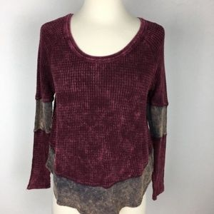 Free People Maroon Thermal size XS